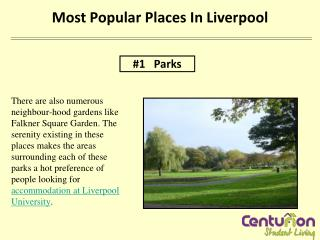 MOST POPULAR PLACES IN LIVERPOOL