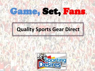 Shop Online with Sporting Desires for Sports Gifts and Souve