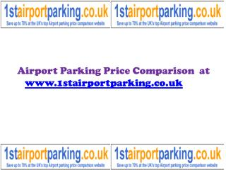Airport Parking Price Comparison