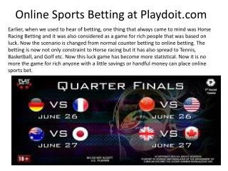 Online Sports Betting at Playdoit.com