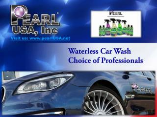 Waterless Car Wash Choice of Professionals
