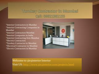 Interior Contractors Mumbai,  Interior Contracting Companies in Mumbai,Turnkey contractor in Mumbai