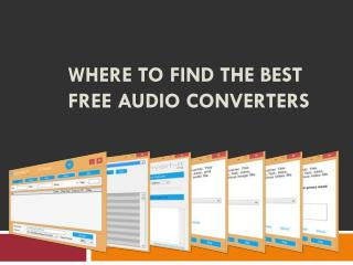 Where to Find the Best Free Audio Converters