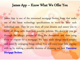 Vancouver Mortgage Brokers