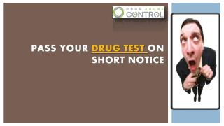 Pass your drug test on short notice