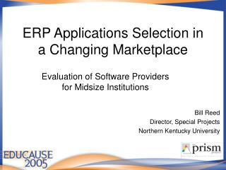 ERP Applications Selection in a Changing Marketplace