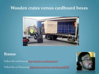Why should I favor wooden crates ahead of cardboard?