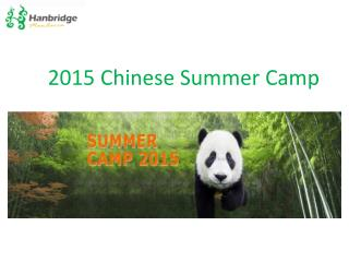 2015 Chinese Language Summer Camp