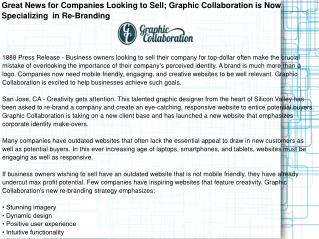 Great News for Companies Looking to Sell