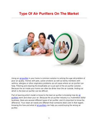Recommend The Best Air Purifiers 2015