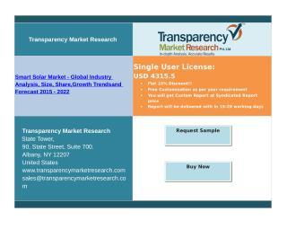 Smart Solar Market Report, 2015 - 2022