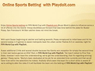 Online Sports Betting  with Playdoit.com