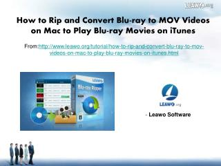 How to Rip and Convert Blu-ray to MOV Videos on Mac