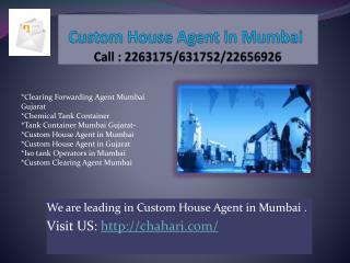 custom house agent in mumbai, custom house agent in gujarat,