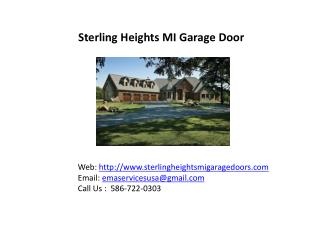 sterling heights MI Garage doors