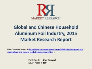 Household Aluminum Foil Market in China Forecasts for 2015-2