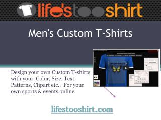 Custom T-shirts for Men Online With Easy Steps