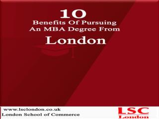 Benefits Of Studying MBA In London