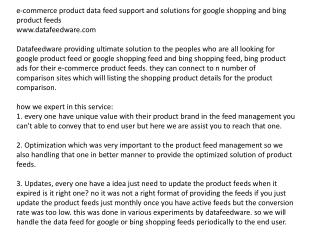 product data feed management datafedware