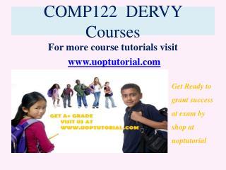 COMP 122 DERVY Tutorial / Uoptutorial