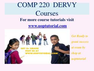 COMP 220 DERVY Tutorial / Uoptutorial
