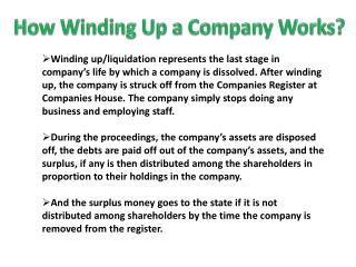 How Winding Up a Company Works?