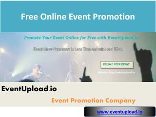 Free Online Event Promotion