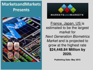 Next Generation Biometrics Market by Application - 2020