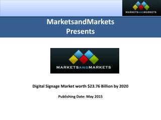 Digital Signage Market by Hardware, Software & Services