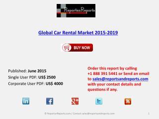 Car Rental Market 2019 – Key Vendors Research and Analysis