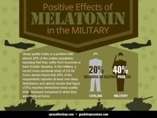Positive Effects of Melatonin in the Military