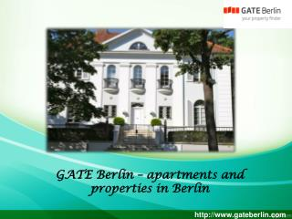 Gate berlin � apartments and properties in berlin