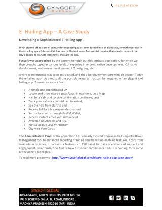 E-Hailing App – A Case Study