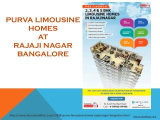 Flats for sale in Purva Limousine Homes in Rajaji Nagar