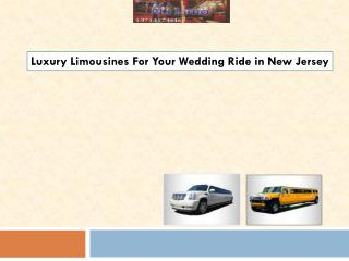 Luxury Limousines For Your Wedding Ride in New Jersey