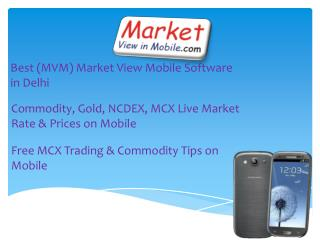Free MCX Trading & Commodity Tips on Mobile