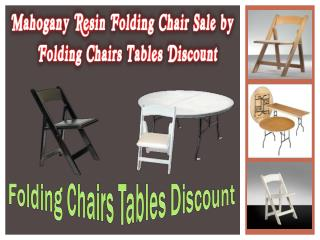 Mahogany Resin Folding Chair Sale