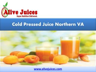 Cold Pressed Juice Northern VA