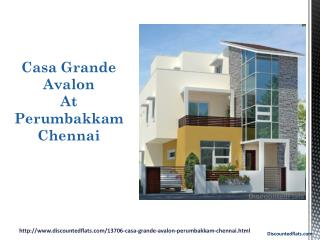 Casa Grande Avalon Flats for Sale Perumbakkam Chennai