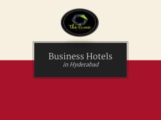 Best Business & Luxury Hotel Rooms in Hyderabad