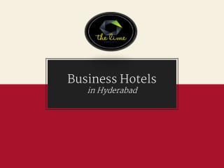 Best Business & Luxury Hotel Rooms in Hyderabad
