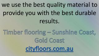 Timber Flooring Sunshine Coast