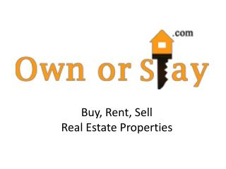 Real Estate Property in India for Buy, Sell, Rent - Ownorsta