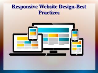 Responsive Website Design Best Practices