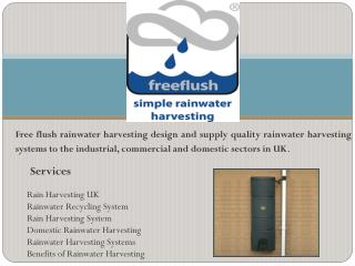 Buy domestic rainwater harvesting systems in UK