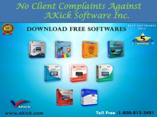 AKick Software - No Client Complaint