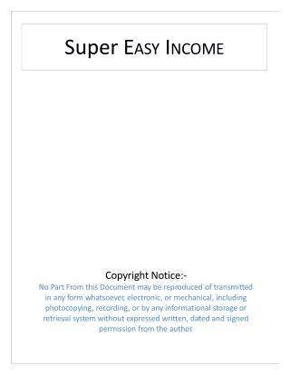 Super Easy Income