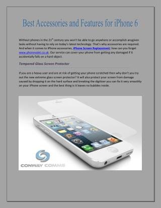 Best Accessories and features for iPhone 6