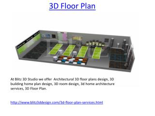 3D Floor Plan Service Provide Studio