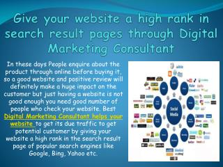 Give your website a high rank in search result pages through